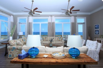 Rental living room at Fort Morgan Realty.