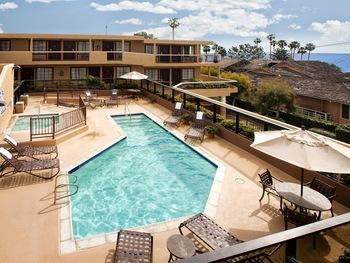 Outdoor pool at Laguna Cliffs Inn.