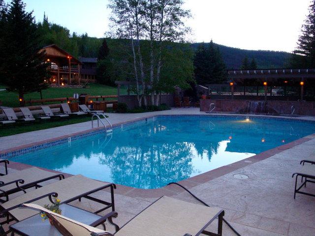 Outdoor pool at C Lazy U Ranch.