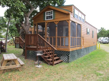 Cabin exterior at Miami Everglades.