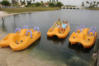Paddle boats at Star Island Resort.
