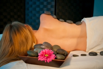 Stone massage at The 1886 Crescent Hotel & Spa.