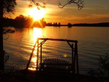 Sunset at Ludlow's Island Resort.