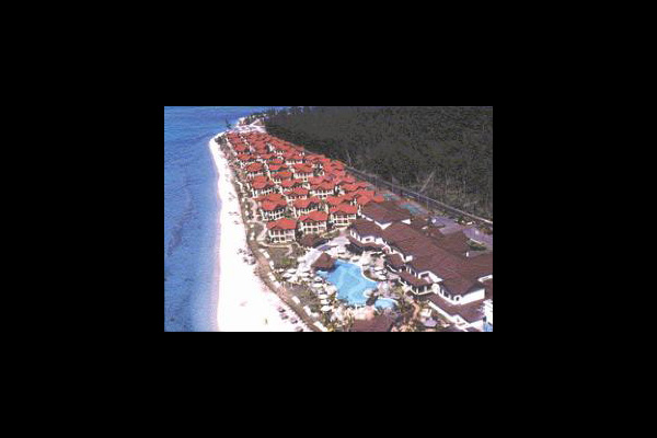 Aerial view of Le Morne Beach Resort & Casino.