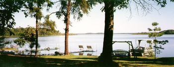 View of Sand Lake at Pine Grove Lodge.