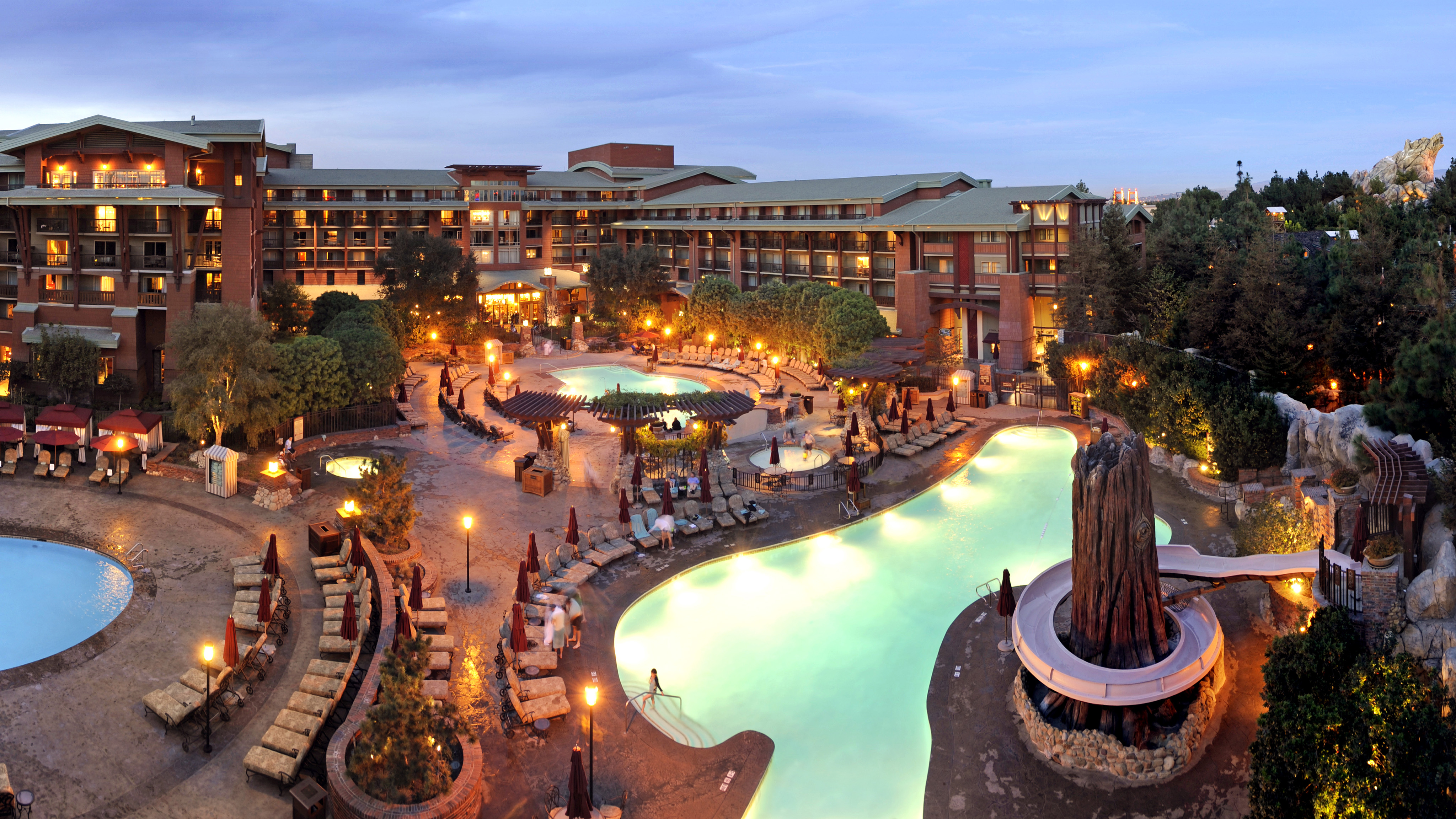 Outdoor pool at Disney's Grand Californian Hotel.