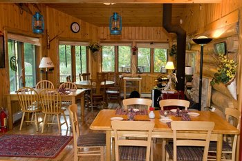 Dining room at Blue Heron Bed & Breakfast.