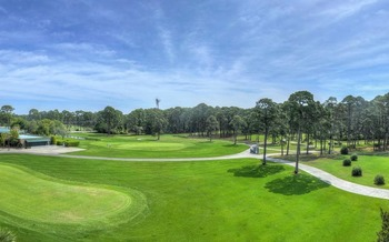 Golf course at Jekyll Island Club Hotel.