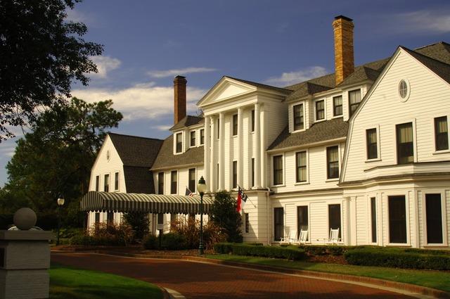 Exterior view of Pinehurst Resort.