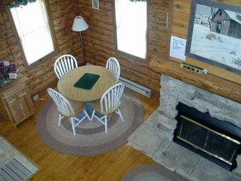 Cabin interior at Sand County Service Company - Little Ponderosa.