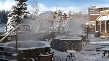 Hot tubs at Beaver Run Resort.