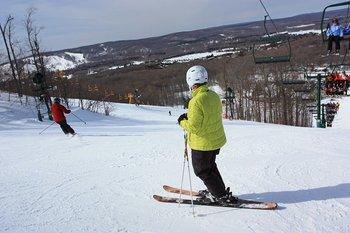 Skiing at Trout Creek Condominium Resort.