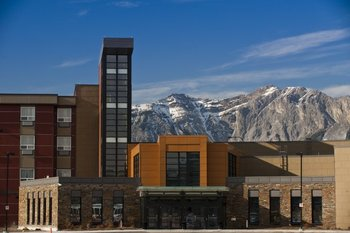 Exterior view of Stoney Nakoda Resort & Casino.