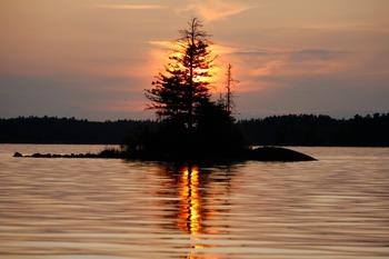 The lake at Lake Of The Woods Lodge.
