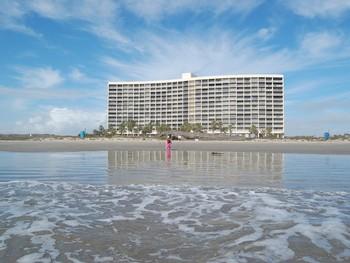 Resort beach at A B Sea Resorts.