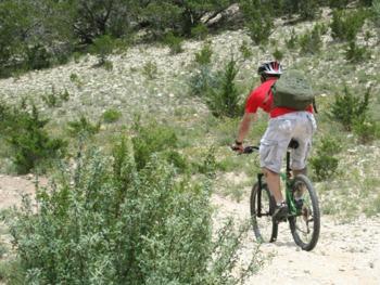 Biking at West 1077 Guest Ranch.