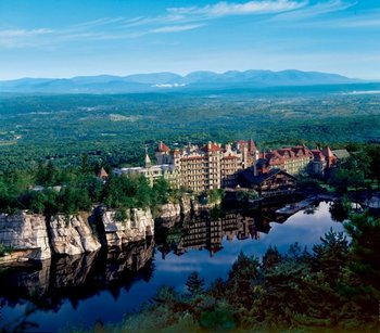 Exterior view of Mohonk Mountain House.
