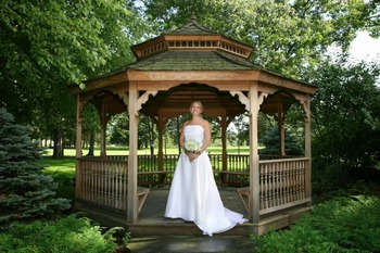 Bride at Lake Morey Resort.