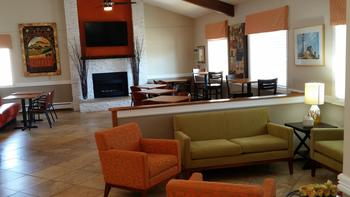 Lobby at Nichols Inn and Suites.