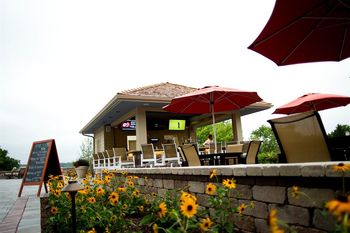 Outdoor patio at Geneva National Resort.
