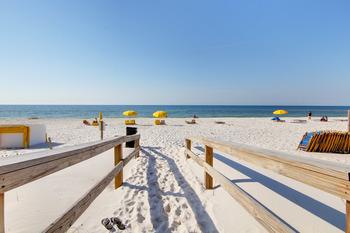 Beach view at Perdido Key Resort Management.