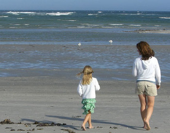 Walk along the beach at Maine Stay Inn & Cottages.