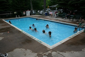Outdoor Pool at Hemlock Campground & Cottages