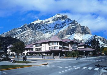 Exterior view of Banff International Hotel.