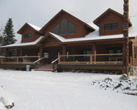 Winter time at Solbakken Resort.