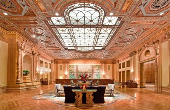 Lobby view of Millennium Biltmore Hotel.