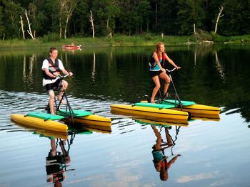 Water activities at Pine Terrace Resort.