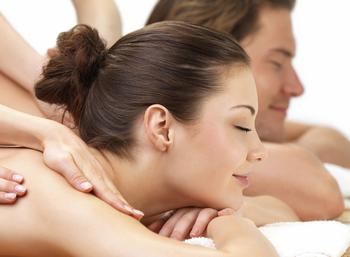 Couple's massage at Christie's Mill Inn & Spa.
