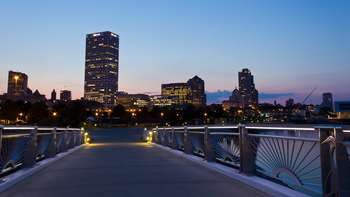 Downtown Milwaukee at The Knickerbocker On The Lake.