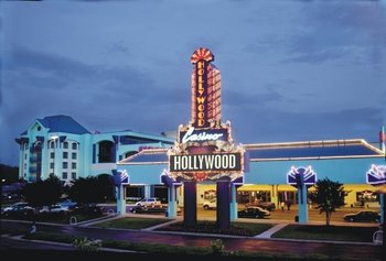 Exterior view of Hollywood Casino.