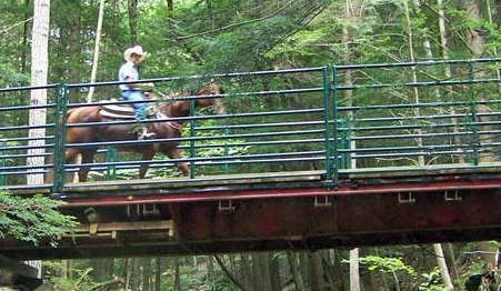 Horseback riding at Ridin-Hy Ranch Resort.