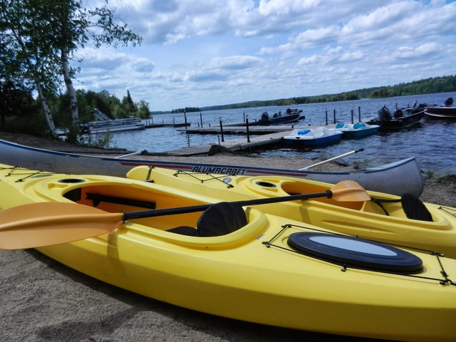 Kayaking at Grand Ely Lodge Resort & Conference Center.