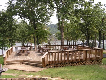 Picnic area at Mill Creek Resort.