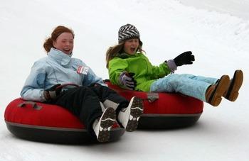 Snow tubing at Pattekill Mountain near The Mountain Brook.