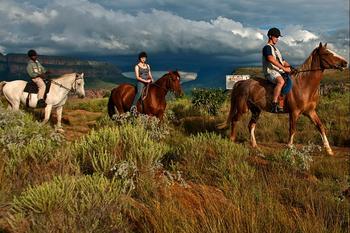 Horseback riding near Aventura Blydepoort.