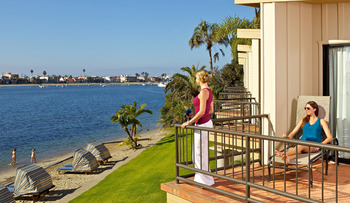 Enjoy beautiful views from your private balcony at Bahia Resort Hotel