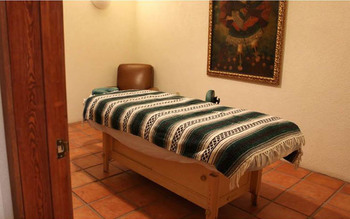 Spa massage table at Cibolo Creek Ranch.