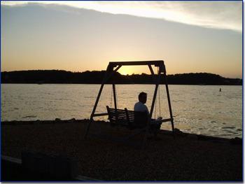 Sunset on the lake at Robin's Resort.