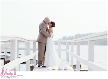 Wedding couple at Linekin Bay Resort.