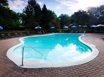 Outdoor pool at Garland Lodge & Resort.
