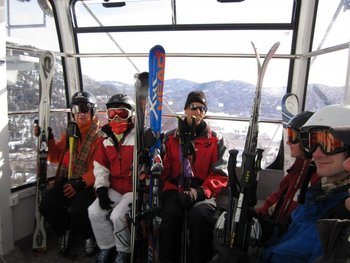 Gondola ride up the mountain at Olympic Village Inn.