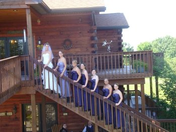 Wedding at Harpole's Heartland Lodge.