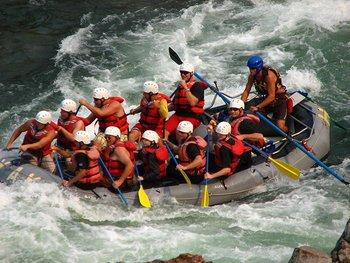 Rafting at River Canyon Retreat.