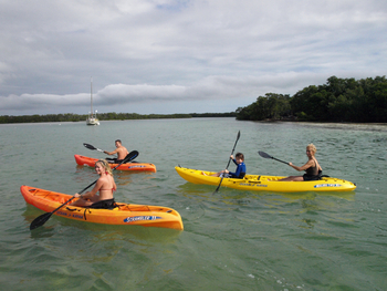 Kayaking at Hawks Cay Resort.