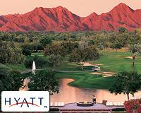 Arizona mountain golf course at Hyatt Regency Gainey Ranch