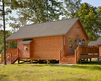 Cabin exterior at Creekside Resort.